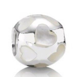 PANDORA Mother of Pearl Charm * Retired #7…